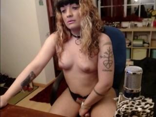 Trans Goddess strokes her girldick TRAILER