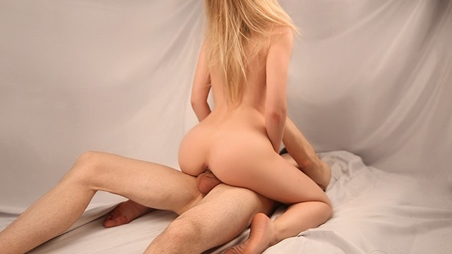 Hot Blonde CAME Hard on That Cock & Gets CREAMPIED - Beautiful Cowgirl Sex