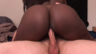Black Teen Step Sister Sucks Cock And Takes Creampie