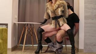Our first FEMDOM! High heels, leather gloves, fur coat (TRAILER) - Otta Koi