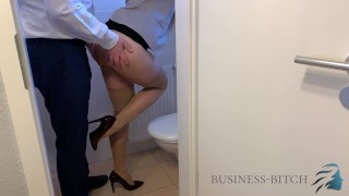 boss caught me on the office restroom - fuck without condom impregnates me