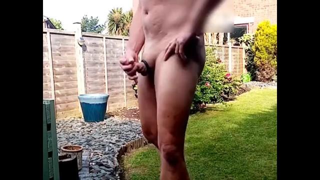See neighbour naked Sub jerks off naked for lockdown neighbour