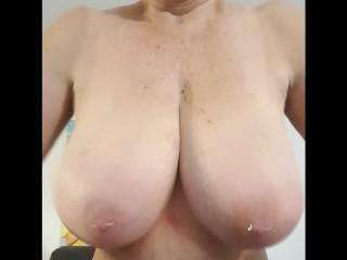 Mature lady from Australia with big boobs wants you to fuck her huge tits