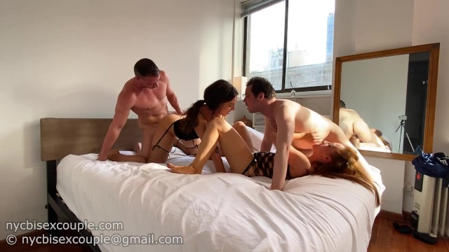 Two nurses suck free Two bisexual couples get together for the hottest foursome ever
