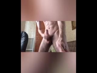 Gay cumshot on himself...