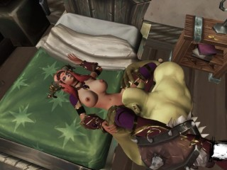 3 porno sex with orc brought to exhaustion...