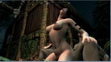Hot sex with Lara Croft in Skyrim   Sex Game, Gamer, 3D