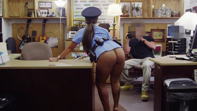 Woman donkey xxx Xxx pawn - big booty latin police woman desperate for cash money