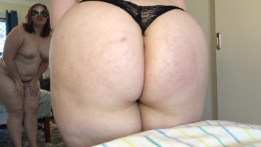 Trying on Cute Dirty Panties and Showing off My Thick Ass and Shaved Pussy