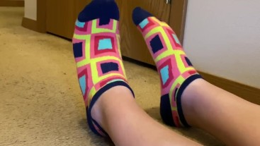 Shiny Tap shoes with Colorful Ankle Socks