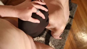 Slave hardcore throat fucked by his Mistress & Master w loud gagging POV HD