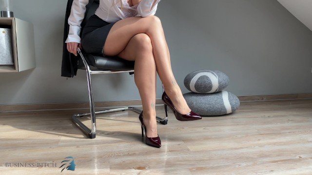 Fetish business startup Get addicted of my secretary feet in pantyhose and high heels