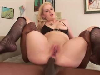 Blonde black anal dreams become true...