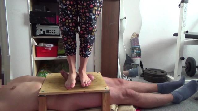 Bonnie and goofy fetish ball Cock balls crushed under feet - cumshot under feet