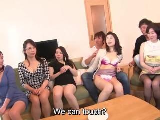 Japanese milf party thong lineup and cfnm handjobs...
