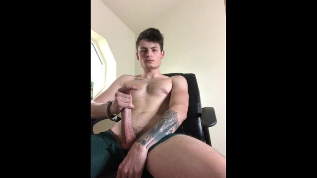 Piss me off you fucking jerk Making you watch me jerk off in my office