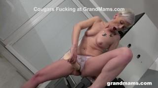 Granny's Such a Dildo Slut