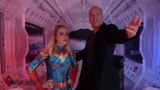 Captain Marvel gets Pounded by Lex Luther - Amateur Boxxx