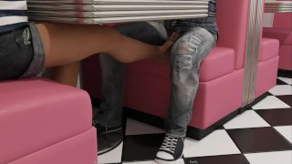 LBH: Reciving Feet Job Nad Having Sex In Public Toilet-Ep 38