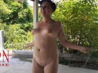 Nude jump rope