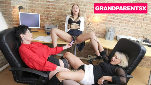 Lesbian secretary and boss videos Boss grannies pick the employee of the month