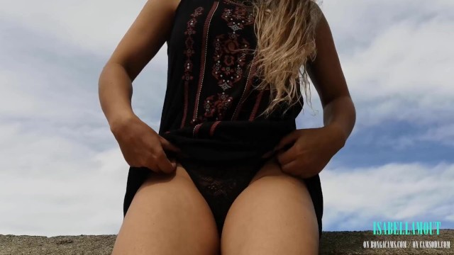 I was enjoying my public fuck in the balcony and the janitor caught me! 1