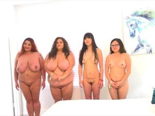 4 girls broken english bbw with thin chicks...