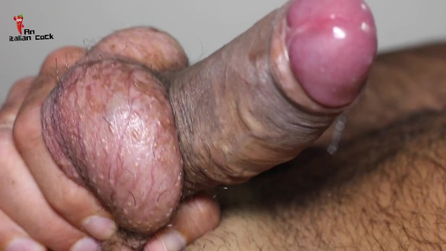 Dick growing jane up Close-up, i masturbate and cuddle my swinging balls without cumming