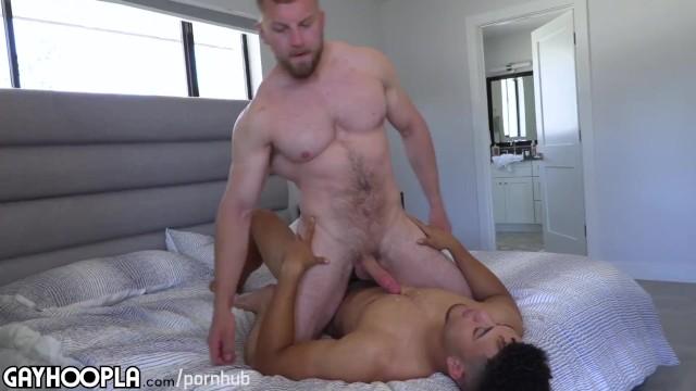 Gay black man video clip Bbc light skin jock fucks big white muscle man. amazing video
