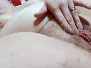 Horny milf edging and fingering her wet hot pussy.