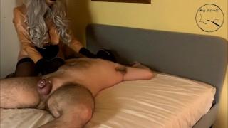 Femdom Chastity Slave Finally Gets To Cum!
