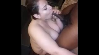 Latina sub fucks bbc for facial
