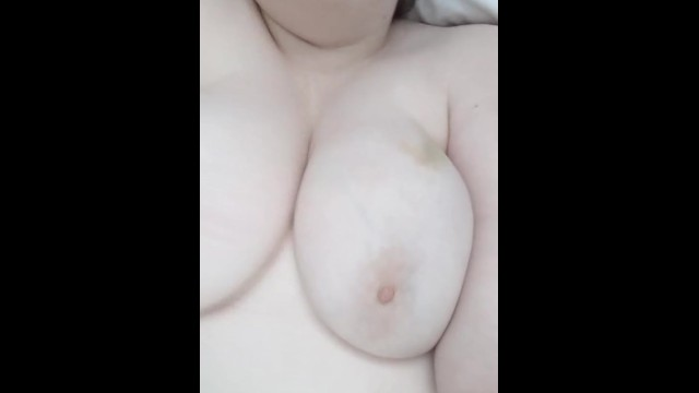 Chubby Babe Playing with Big Tits 14