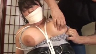 Asian Japanese Eurasian Chubby BBW MILF Big Tits Kelly Shibari Tied to Chair with Rope