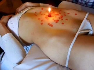 Sexy girl nude belly wax torture navel play...