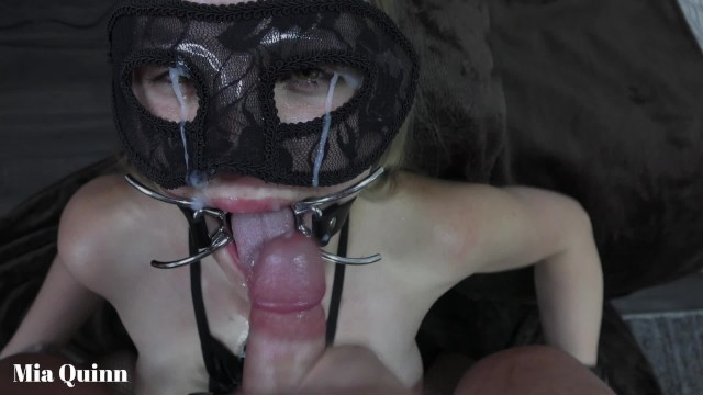 Nude mya - Facefuck gagging pissing with a open mouth gag - mya quinn