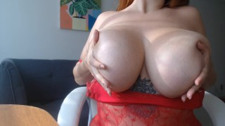Gorgeous Latina Shows Off Huge Natural Tits