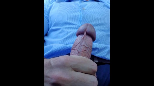 Favorite gay car Hot daddy, cums all over his suit in public car park