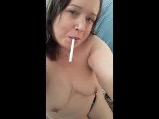 Cute and Cuddly Teasing While Smoking a 120