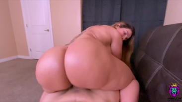 Busty Latina MILF slammed her Big Ass savagely while riding in cowgirl POV