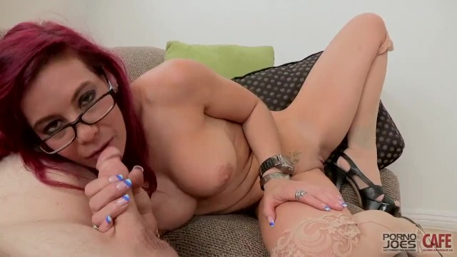 RED HEAD MILF RYDER SKYE IN GLASSES OFFICE BLOWJOB AND FACIAL 7