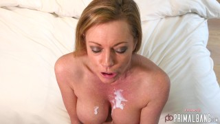 PrimalBang Horny British MILF Holly X Fingers her well fucked pussy in the