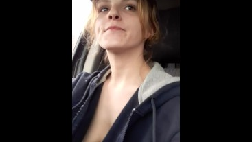 Driving topless