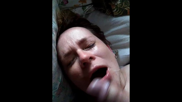 Mature woman fucks young Mature woman fucks with a young guy and cumps in mouth