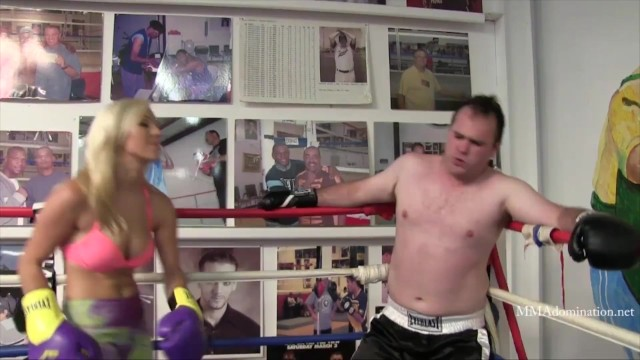Blonde Athletic Porn Star Cameron Dee Mixed Boxing 7