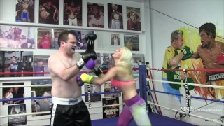 Blonde Athletic Porn Star Cameron Dee Mixed Boxing