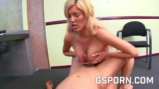 Hot natural secretary is fucked hard by her boss in office