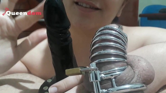 Free milf dom Cuckold training - jerking another cock in front of my chastity slave