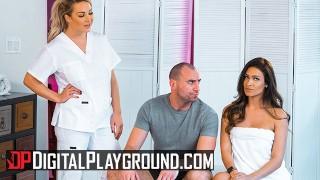 Digital Playground - Two hot babes Katana & Amber share a big cock