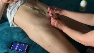 Masturbation therapy: 3 min cruel post orgasm torture + huge cumshot